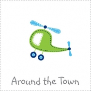 transportation around the town plane car helicopter sailboat truck boy birthday theme