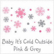 Baby It's Cold Outside Pink & Grey Baby Shower Invitations
