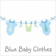 Blue Baby Clothesline