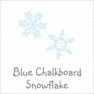 Blue Chalkboard Snowflake Baby Shower
