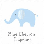 Blue Chevron Elephant Baby Shower