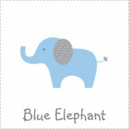 Blue Polka Dot Elephant Baby Shower