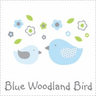 Blue Woodland Bird