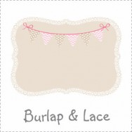 Burlap and Lace Baby Shower Theme