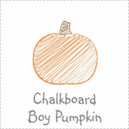 Chalkboard Pumpkin Boy Baby Shower