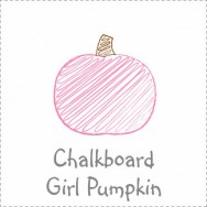 Chalkboard Pumpkin Girl Baby Shower
