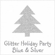 UGlitter Holiday Party Blue and Silver Invitations