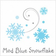 Mod Blue Snowflake Baby Shower