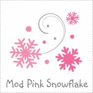 Mod Pink Snowflake Baby Shower