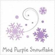 Mod Purple Snowflake Baby Shower