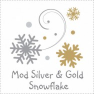 Mod Silver & Gold Snowflake Baby Shower Invitations