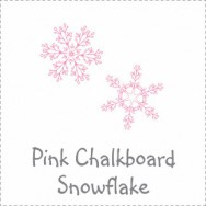 Pink Chalkboard Snowflake Baby Shower