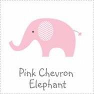 Pink Chevron Elephant Baby Shower theme
