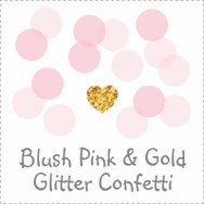 Blush Pink Glitter Gold Baby Shower Theme