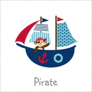 pirate monkey nautical whale theme