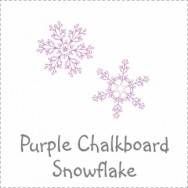 Purple Chalkboard Snowflake Baby Shower