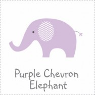 Purple Chevron Elephant Baby Shower Theme
