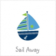sail away nautical sailboat theme