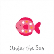 under the sea nautical octopus whale crab seahorse theme