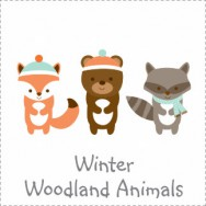 Winter Woodland Animals Invitations
