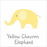 Yellow Chevron Elephant Baby Shower