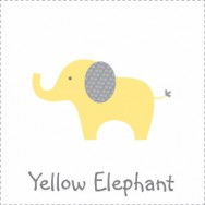 Yellow Polka Dot Elephant Baby Shower