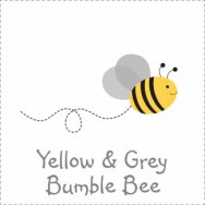 Yellow and Grey Bumble Bee Baby Shower